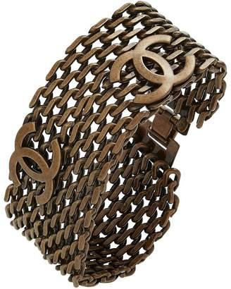 Chanel Bronze Chain-Link 'CC' Bracelet