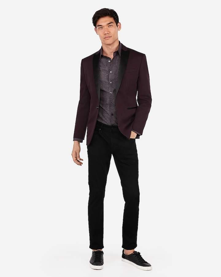 Express Slim Cotton Performance Tuxedo Jacket