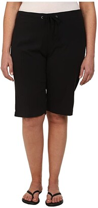 Columbia Plus Size Anytime Outdoortm Long Short (Black) Women's Shorts