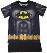 Bioworld Batman Youth Boys Sublimated Cape Costume T-shirt