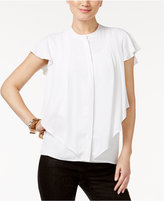Alfani Layered Ruffle Blouse, Only at Macy's