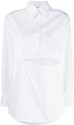 Ports 1961 Slit-Embellished Poplin Shirt