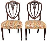 One Kings Lane Vintage Sheraton Carved Side Chairs - Set of 2 - Something Vintage - brown