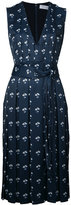 Victoria Beckham floral print pleated dress - women - Polyester - 8