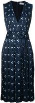 Victoria Beckham floral print pleated dress