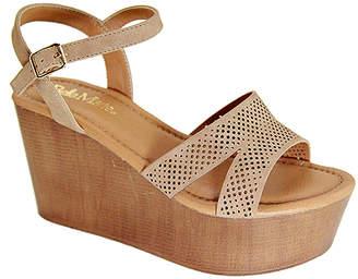 Bella Marie Women's Sandals NATURAL - Natural Maida Wedge Sandal - Women