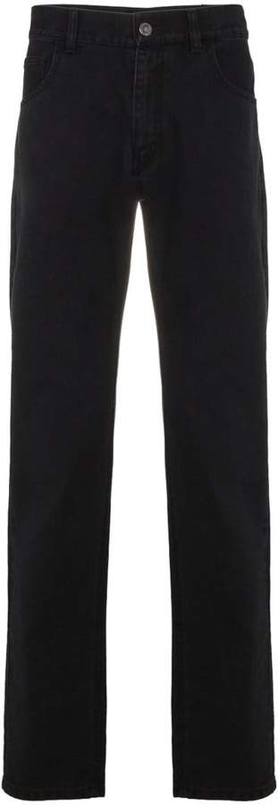 Raf Simons Regular fit black jeans with tape