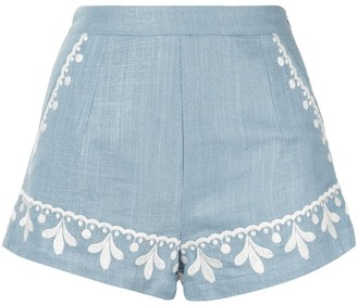 We Are Kindred Positano embroidered shorts