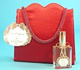Annick Goutal Grand Amour By Red Satin Evening Bag 2 Piece Gift Set