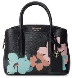 Kate Spade Mini Margaux Brush Bloom Leather Satchel