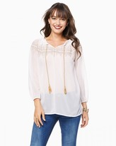 Charming charlie Festival Embroidered Top