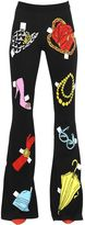 Moschino Accessories Intarsia Cotton Knit Pants
