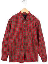 Oscar de la Renta Plaid Button-Up Shirt
