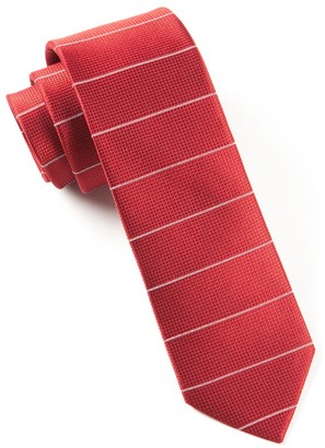 Tie Bar Institute Stripe Red Tie