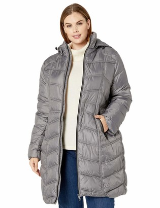 Big Chill Women's Chevron Quilted Puffer Coat with Hood