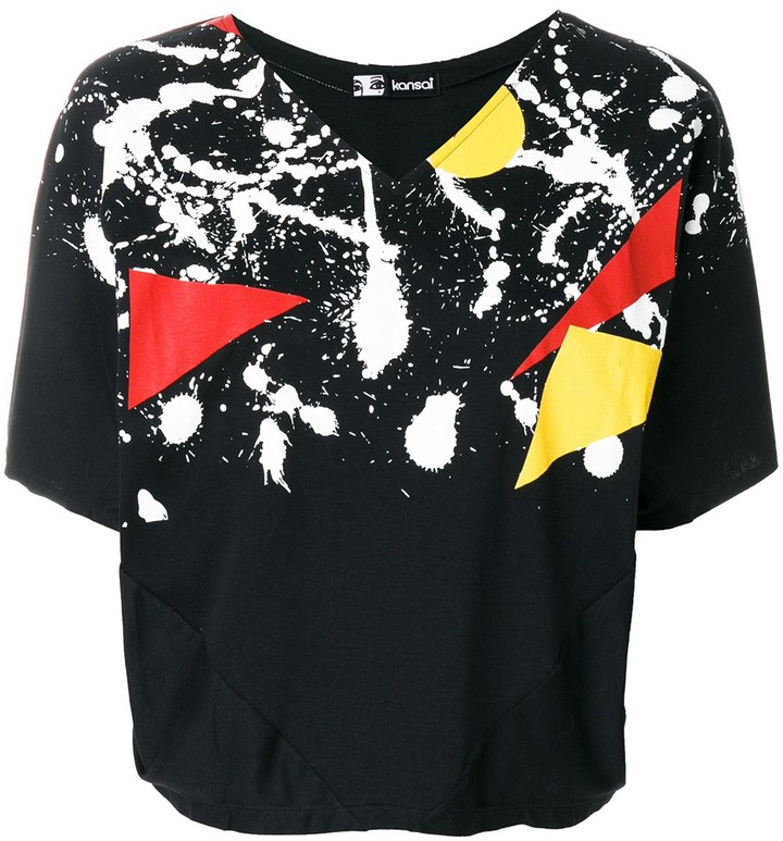 Kansai Yamamoto Pre-Owned 1980s paint splatter print T-shirt