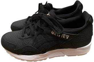 Asics \N Black Leather Trainers