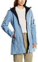 Ilse Jacobsen Women's RAIN07 Parka Hooded Long Sleeve Waterproof Jacket - Blue - UK