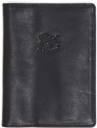 Il Bisonte Cowhide Passport Case in Black
