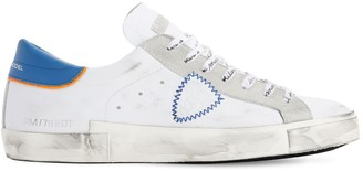 Philippe Model Prsx Veau Broderie Leather Sneakers
