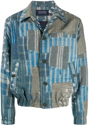 Natural Selection Patchwork Print Shirt Jacket