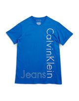 Calvin Klein Jeans Boys 8-20 V-Neck Logo Tee