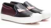 Fendi Leather slip-on sneakers