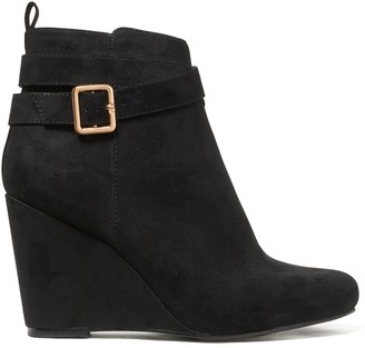 Forever New Willow Wedge Boot - Black - 38