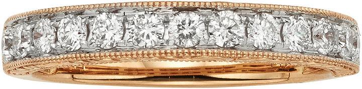 JCPenney MODERN BRIDE 1/2 CT. T.W. Certified Diamond 14K Rose Gold Wedding Band