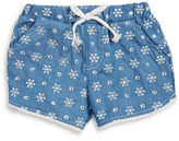 Flapdoodles Girls 2-6x Little Girls Chambray Shorts