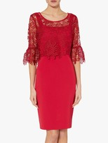 Gina Bacconi Rya Crepe Dress With Lace Overtop