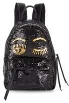 Chiara Ferragni Sequin Embellished Wink Backpack
