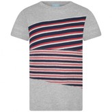 Lanvin LanvinBoys Grey Striped Cotton Top