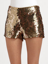 Haute Hippie Sequined Modal Shorts