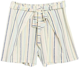 BCBGeneration Stripe Print Tie Front Shorts