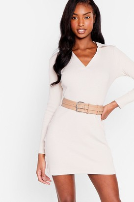 Nasty Gal Womens Double or Nothing Faux Leather Buckle Belt - White - ONE SIZE, White