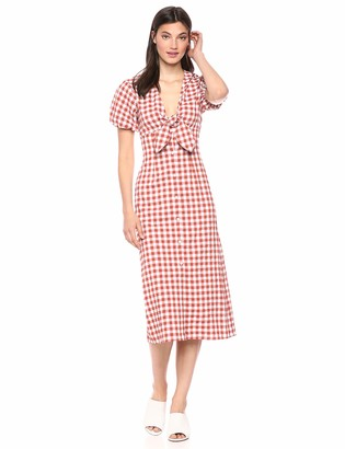The Fifth Label Women's Nouveau Gingham Check Short Sleeve Maxi Dress