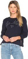 Sundry La Mer Sweatshirt in Blue. - size 0 / XS (also in 1 / S)