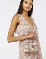 Accessorize Ariana Floral Sequin Hardcase Clutch Bag