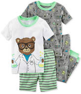 Carter's 4-Pc. Scientist Bear Cotton Pajama Set, Toddler Boys