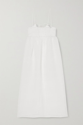 Cecilie Bahnsen Kamille Tiered Organza Maxi Dress - White