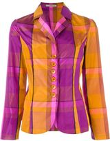Etro checked blazer - women - Silk - 44