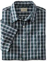 L.L. Bean Tartan Seersucker Shirt, Short-Sleeve Slightly Fitted