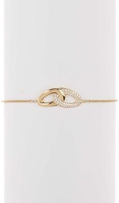 Ippolita 18K Gold Cherish Interlaced Links Bracelet with One Pave Link in Diamonds - 0.21ctw