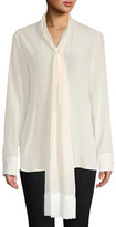 Stella McCartney Fringed Scarf Silk Blouse