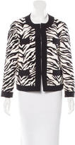 Moschino Cheap & Chic Moschino Cheap and Chic Collarless Zebra Print Jacket