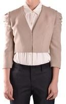 Elisabetta Franchi Women's Beige Viscose Jacket.