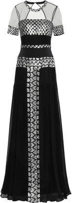 Temperley London Luminary Sequined Cutout Tulle And Georgette Gown