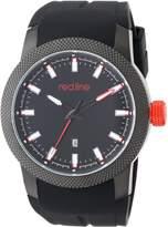 Redline Red Line Men's RL-10016-BB-01 Gauge Analog Display Japanese Quartz Black Watch