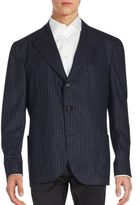 Brunello Cucinelli Striped Wool-Blend Sportcoat